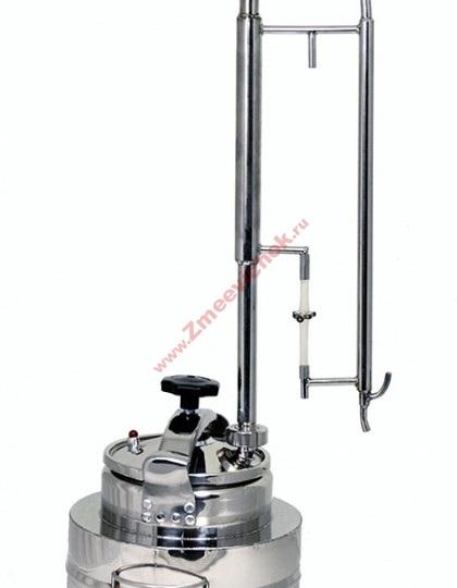 Купить самогонный аппарат Скороварка 25 л с пленочной колонной (проточный)